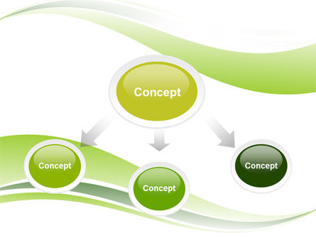 Green Leaf Wave PowerPoint Template, Slide 4, 05458, Nature & Environment — PoweredTemplate.com