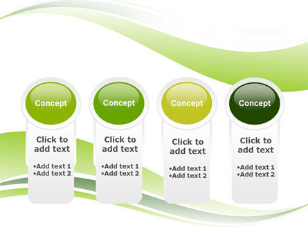 Green Leaf Wave PowerPoint Template Slide 5