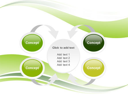 Green Leaf Wave PowerPoint Template Slide 6