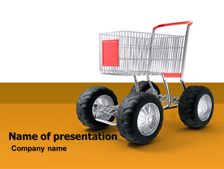 Cart PowerPoint Template, 05463, Careers/Industry — PoweredTemplate.com