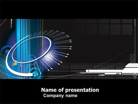 Technology and Science: Abstract Computer Design PowerPoint Template #05464
