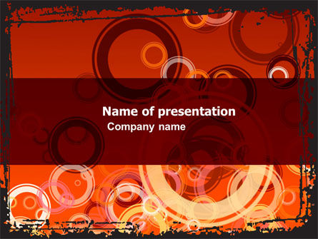 Abstract/Textures: Red Circles PowerPoint Template #05465