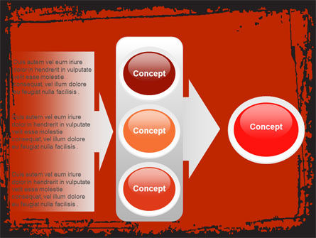 Red Circles PowerPoint Template Slide 11
