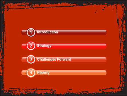 Red Circles PowerPoint Template Slide 3
