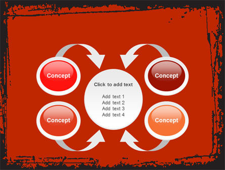 Red Circles PowerPoint Template Slide 6
