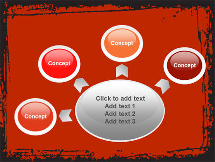 Red Circles PowerPoint Template Slide 7