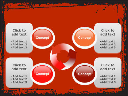 Red Circles PowerPoint Template Slide 9