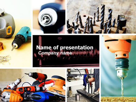 Utilities/Industrial: Drill PowerPoint Template #05467