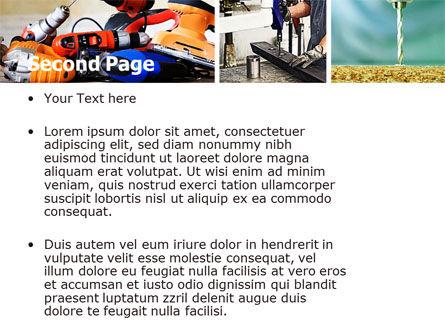 Drill PowerPoint Template, Slide 2, 05467, Utilities/Industrial — PoweredTemplate.com