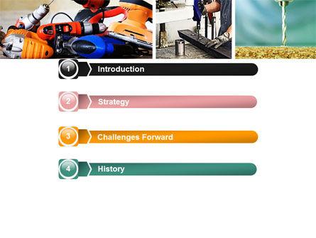 Drill PowerPoint Template, Slide 3, 05467, Utilities/Industrial — PoweredTemplate.com