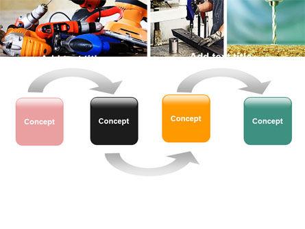 Drill PowerPoint Template, Slide 4, 05467, Utilities/Industrial — PoweredTemplate.com