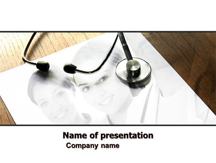 Portrait Of Medical Staff PowerPoint Template, 05468, Medical — PoweredTemplate.com