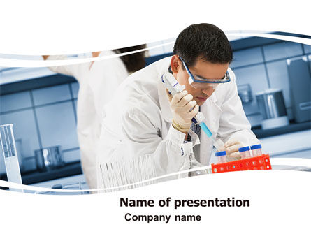 Technology and Science: Medical Testing In The Laboratory PowerPoint Template #05471