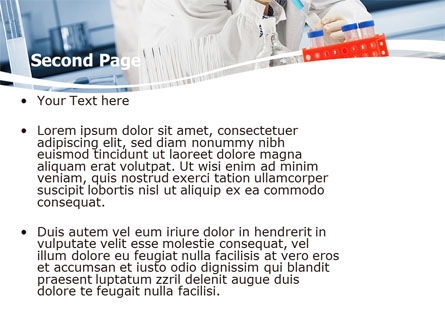 Medical Testing In The Laboratory PowerPoint Template, Slide 2, 05471, Technology and Science — PoweredTemplate.com