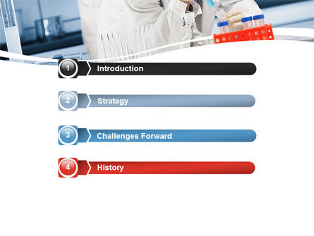 Medical Testing In The Laboratory PowerPoint Template, Slide 3, 05471, Technology and Science — PoweredTemplate.com