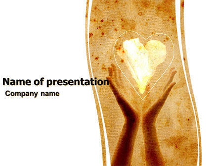 Religious/Spiritual: Sharing Love PowerPoint Template #05472