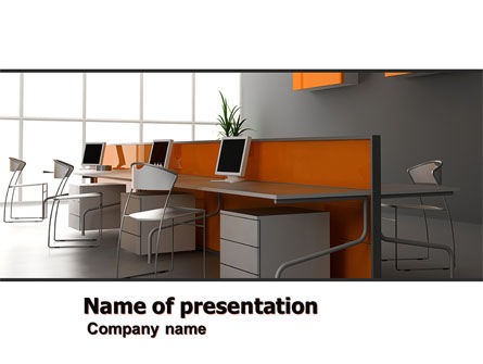 Office Open Space PowerPoint Template, 05473, Careers/Industry — PoweredTemplate.com