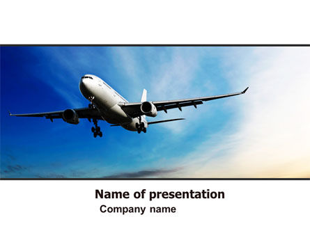 Cars and Transportation: Modern Plane PowerPoint Template #05474