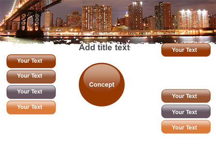 Manhattan Bridge PowerPoint Template Slide 15