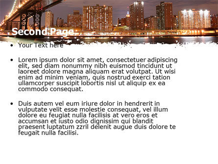 Manhattan Bridge PowerPoint Template, Slide 2, 05475, Construction — PoweredTemplate.com