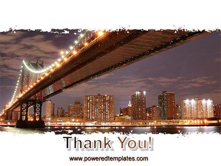 Manhattan Bridge PowerPoint Template Slide 20