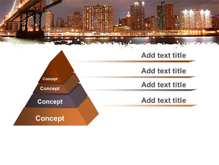 Manhattan Bridge PowerPoint Template, Slide 4, 05475, Construction — PoweredTemplate.com