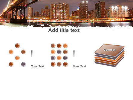 Manhattan Bridge PowerPoint Template Slide 9