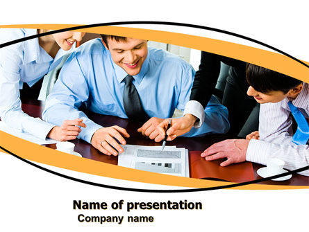 Business: Discussing of These Results PowerPoint Template #05477
