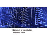 Careers/Industry: Database Structure PowerPoint Template #05478