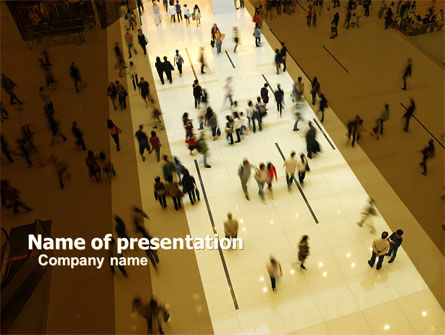 People: Public Place PowerPoint Template #05480