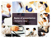 People: Team Building Collage PowerPoint Template #05481