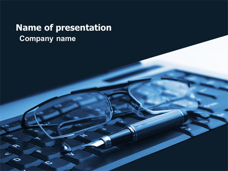 Business Working Place PowerPoint Template