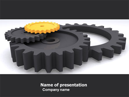 Utilities/Industrial: Mechanic Parts PowerPoint Template #05483