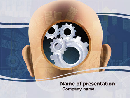 Mechanistical Mental Work PowerPoint Template, 05484, Consulting — PoweredTemplate.com