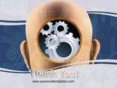 Mechanistical Mental Work PowerPoint Template#20