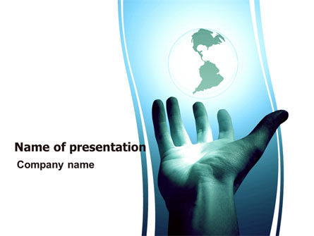 Global: Reaching the World PowerPoint Template #05486