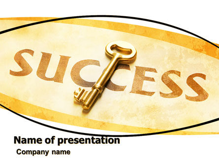 Key to Success PowerPoint Template, 05487, Business Concepts — PoweredTemplate.com