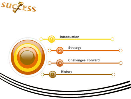 Key to Success PowerPoint Template, Slide 3, 05487, Business Concepts — PoweredTemplate.com
