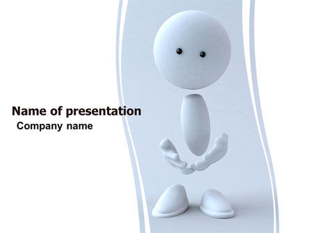 3D: 3D Human Model PowerPoint Template #05489