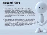 3D Human Model PowerPoint Template#2