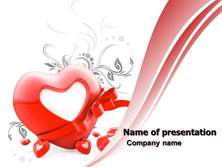 Giving Love PowerPoint Template, 05490, Holiday/Special Occasion — PoweredTemplate.com