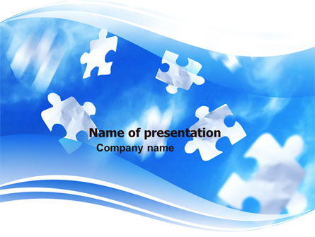 Flying Puzzles PowerPoint Template