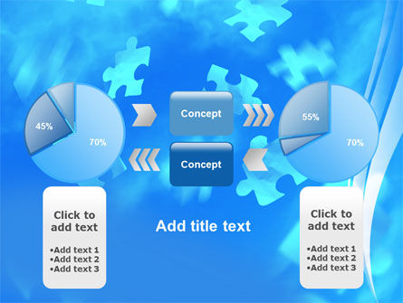Flying Puzzles PowerPoint Template Slide 11
