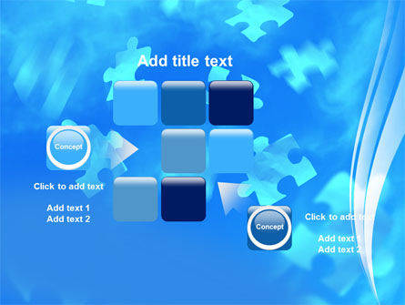 Flying Puzzles PowerPoint Template Slide 16