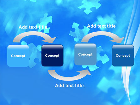 Flying Puzzles PowerPoint Template Slide 4