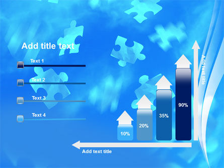 Flying Puzzles PowerPoint Template Slide 8