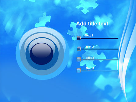 Flying Puzzles PowerPoint Template Slide 9