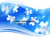 Business Concepts: Flying Puzzles PowerPoint Template #05495