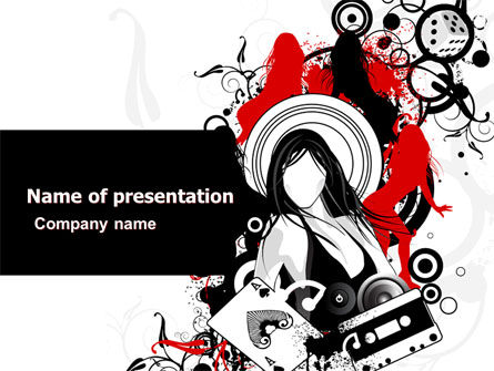 Partying PowerPoint Template, 05501, Careers/Industry — PoweredTemplate.com