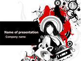 Careers/Industry: Partying PowerPoint Template #05501